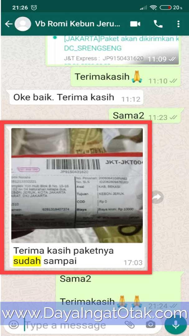 Paket Sudah Diterima Jakarta Barat
