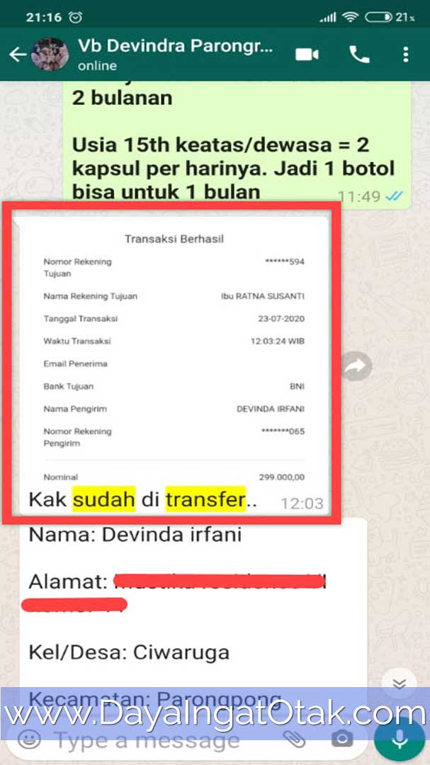 Transfer Bank BNI Bandung Barat